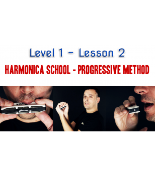 Harmonica School: Level 1 Lesson 2 - Unlimited Beginner  $19.90