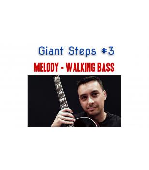Giant Steps guitar arrangement melody - walking bass Guitar  $4.90